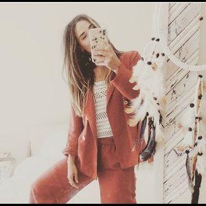 Free People Linen Suit 🖤